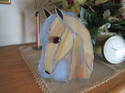 Stained Glass Horse Ornament